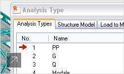 Image of the many analysis types in Robot Structural Analysis software