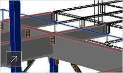 Select and view steel modeling parts