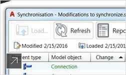 Synchronize between Revit or Advance Steel models