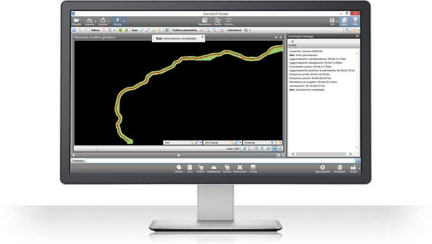 Creation of road projects with Sierrasoft Roads