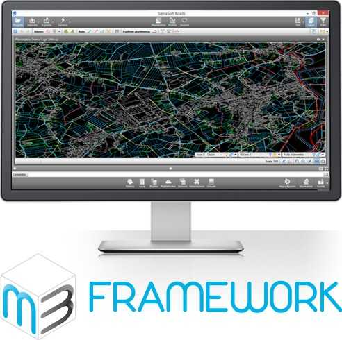 M3 framework is the software platform to create a new generation of applications for land survey, infrastructures design and constructions.