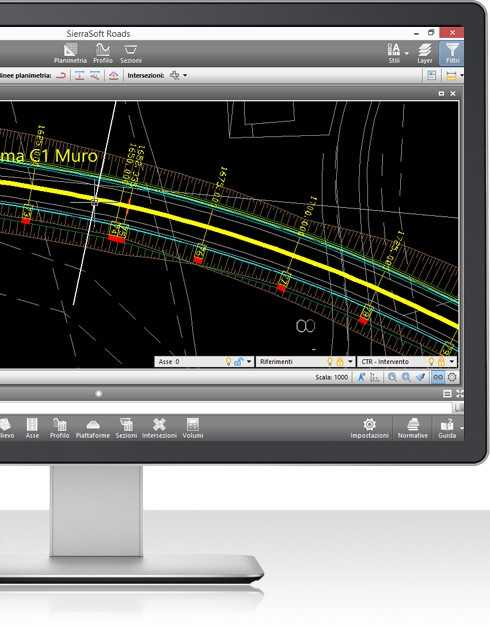 Real time update software for road design