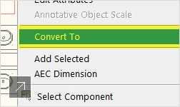 It is easy to batch-convert single or multiple blocks