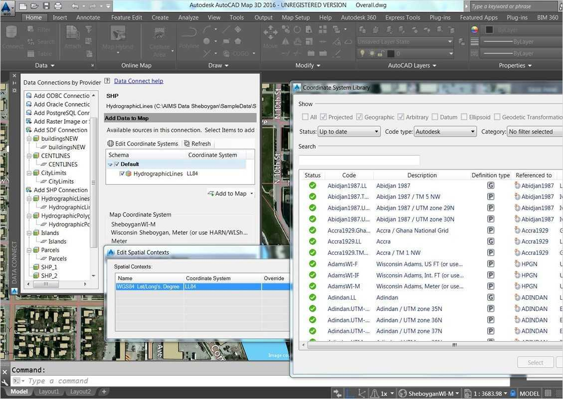 Autocad map 3d ace hellas sa bring aerial data into maps with commecial basemap and geolocation tools sciox Images
