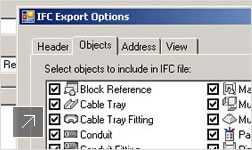 Create, manage, and share MEP CAD data with others in the design process with IFC data