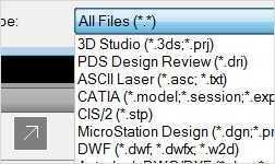 Navisworks supports multiple file formats